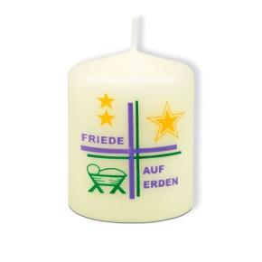 Kerze Friede auf Erden