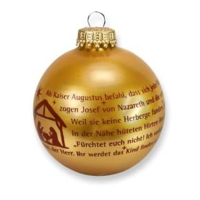 Christbaumkugel in Gold - Weihnachtsgeschichte