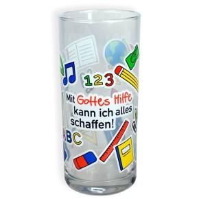 Trinkglas - Mit Gottes Hilfe