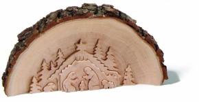 Weihnachtskrippe aus Rindenholz