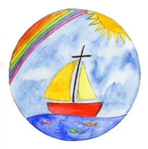 Magnet Regenbogen / Schiff