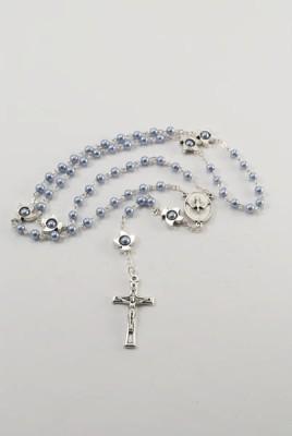 Rosenkranz kleine Perlen blau