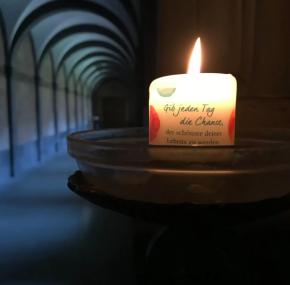 Kerze Gib jedem Tag die Chance