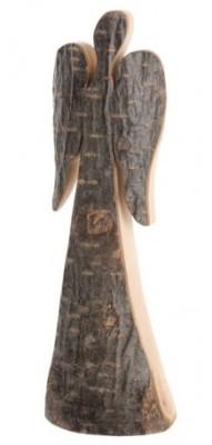 Glücksengel aus Rindenholz