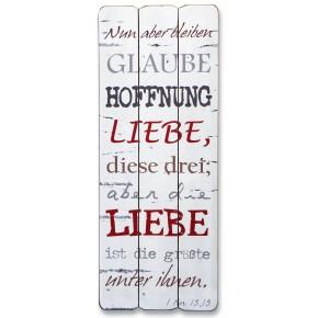 """Wandbild """"Nun aber bleiben Glaube, Hoffnung, Liebe ..."""""""