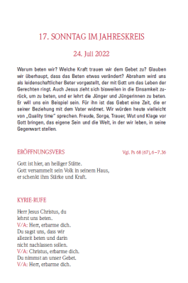 Messbuch 2022