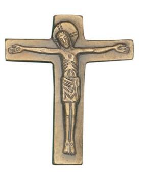 Bronzekreuz mit Körper - Größe:13 x 11 cm