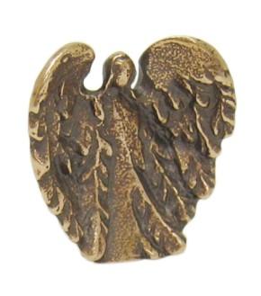 Figur Behütender Engel - Bronze - 3,7 x 3,5 cm