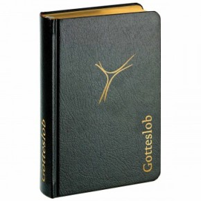 Gotteslob Aachen - schwarzes Leder mit Goldschnitt und Goldprägung