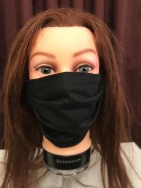 Mund-Nasen-Maske aus Baumwolle (dunkelblau)