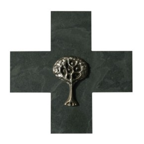 Schieferkreuz Lebensbaum