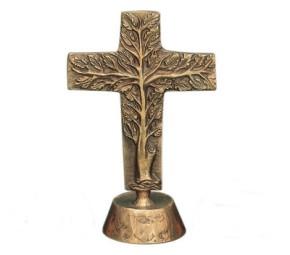 Stehkreuz Lebensbaum aus Bronze
